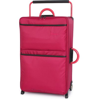 IT Luggage World's Lightest 2-Wheel Large Suitcase - Persian Red
