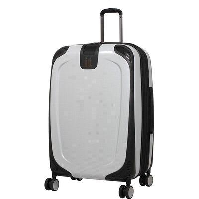 IT Luggage High Shine Protective Medium Suitcase - White