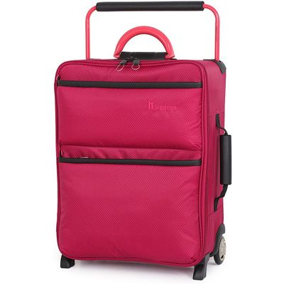 IT Luggage World's Lightest 2-Wheel Cabin Suitcase - Persian Red