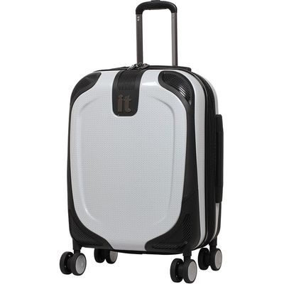 IT Luggage High Shine Protective Cabin Suitcase - White