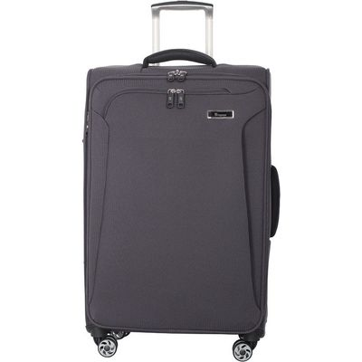 IT Luggage Lightweight 8-Wheel Medium Suitcase - Grey