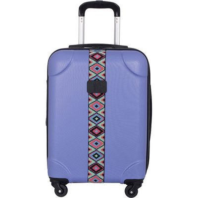 IT Luggage IT 4-Wheel ABS Emboss Cabin Size Suitcase - Bleached Denim