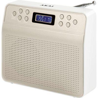 Akai Portable DAB Radio   Champagne - 5056032921528