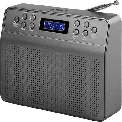 Akai Portable DAB Radio   Grey - 5056032921566