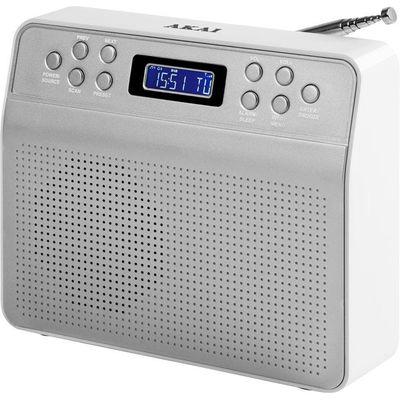 Akai Portable DAB Radio   Silver - 5056032902794