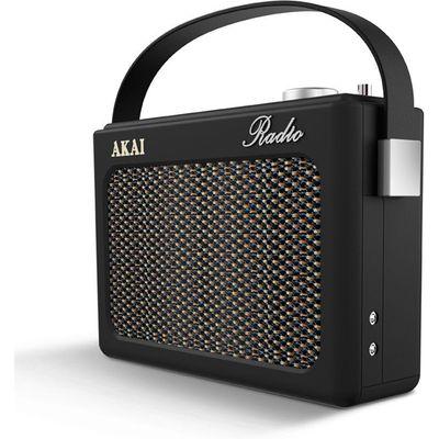 Akai Retro DAB FM Radio   Black - 5056032903272