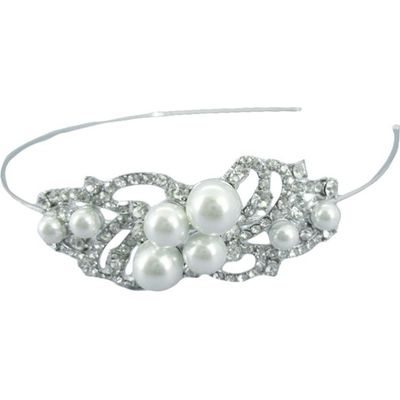 Silver Pearl Headband