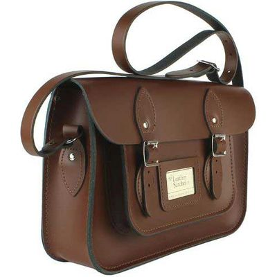 Leather Satchel 12.5 Inch, Brown