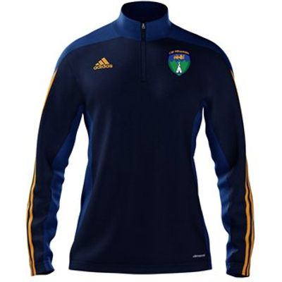 adidas County Wicklow GAA Mi Team 14 Quarter Zip - Adult - New Navy/Cobalt/Collegiate Gold