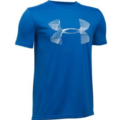 Under Armour Combo Logo Short Sleeve Tee - Boys - Ultra Blue