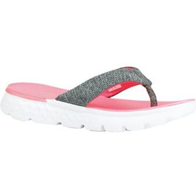 Skechers On The Go 400 Vivacity Flip Flops - Womens - Charcoal/Hot Pink