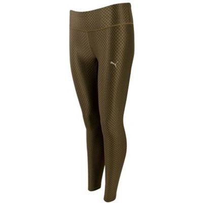 Puma All Eyes On Me Tights - Womens - Olive Night