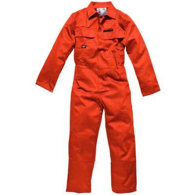 Dickies Mens Proban Flame Retardant Overalls Orange 48 31.5