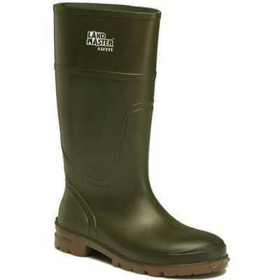 Dickies Mens Landmaster Safety Wellington Boots Green Size 10
