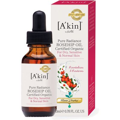A'kin Pure Radiance Rosehip Oil - Certified Organic 23ml