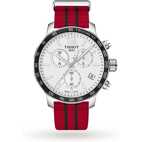 12. Mens Tissot Quickster NBA Chicago Bulls Special Edition Chronograph Watch T0954171703704: £295, Goldsmiths