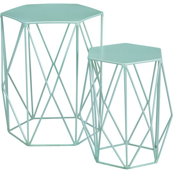 23. LOFT Wire Nest of Tables Mint, T841702: £79, Marks and Spencer