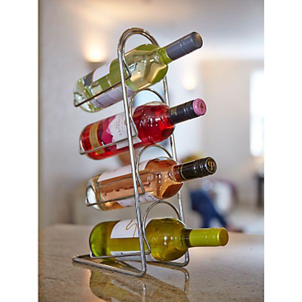 23. Hahn Pisa Metal Wine Rack, Chrome, 4 Bottle: £13.5, John Lewis