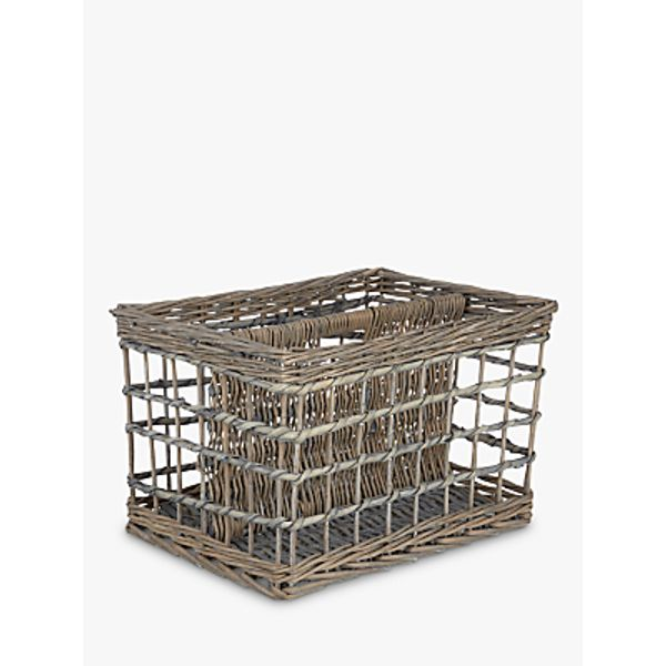 6. John Lewis Grey Wicker Magazine Rack: £22, John Lewis