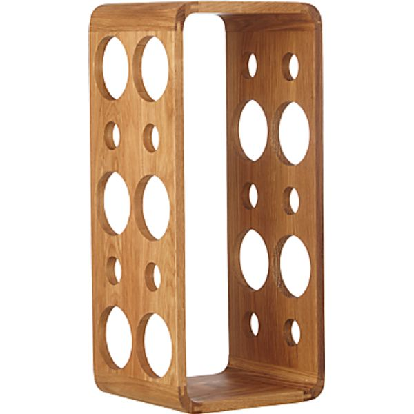 1. John Lewis Wall Mounted Wine Rack, 10 Bottle, Oak Wood: £35, John Lewis