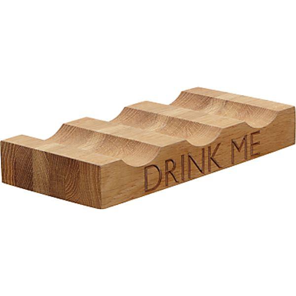 13. John Lewis Drink Me Wine Rack, 3 Bottle, Oak Wood: £23, John Lewis