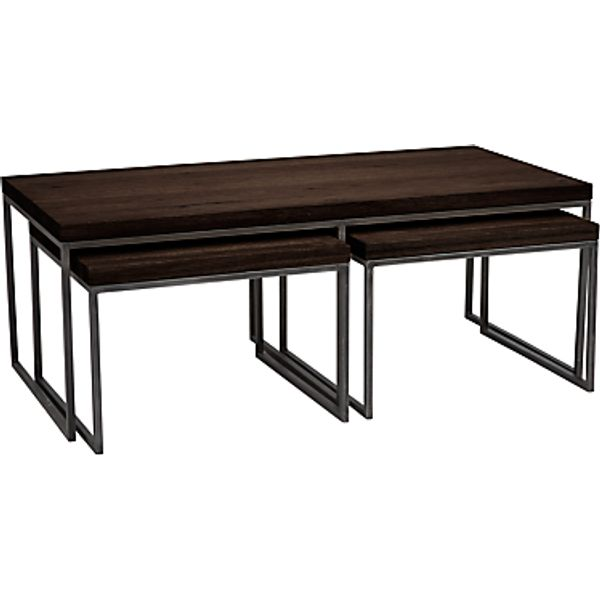 97. John Lewis Calia Coffee Table with Nest of 2 Tables, Dark: £450, John Lewis