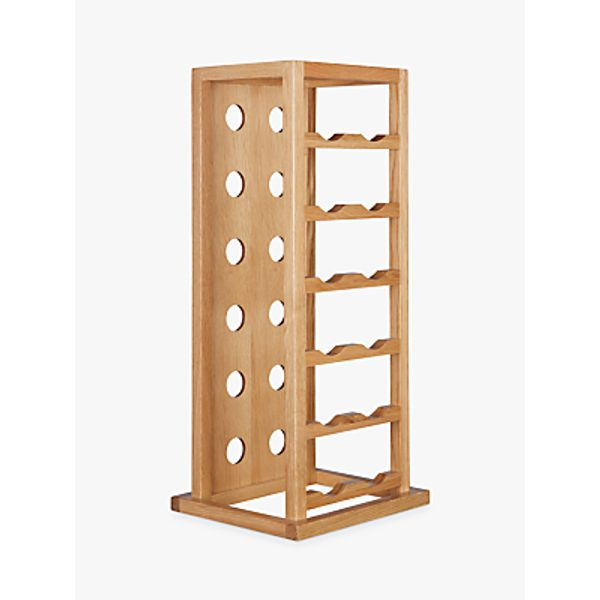 10. John Lewis Oak Wood Tower Wine Rack, 12 Bottle: £60, John Lewis