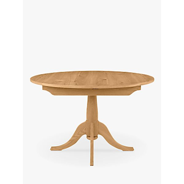 12. John Lewis Audley Round 4-6 Seater Extending Dining Table, Oak: £799, John Lewis