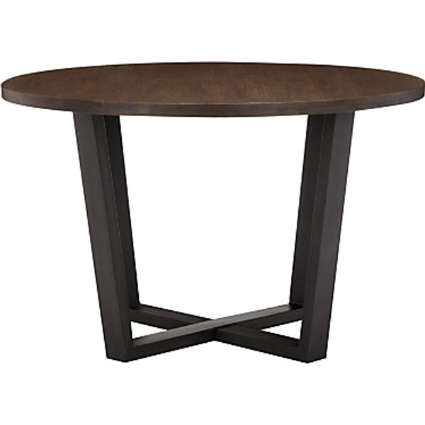 11. John Lewis Calia Round 6 Seater Dining Table, Dark: £499, John Lewis