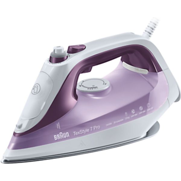 58. Braun SI7066VI Texstyle 7 Pro Steam Iron, Purple/White: £79.95, John Lewis