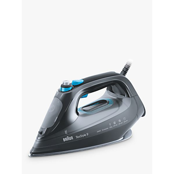 55. Braun SI9188BK Texstyle 9 Pro Steam Iron, Grey/Blue: £89.95, John Lewis