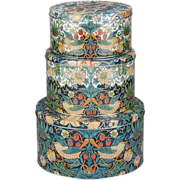 14. Morris & Co Cake Tins, Set of 3: £26, John Lewis
