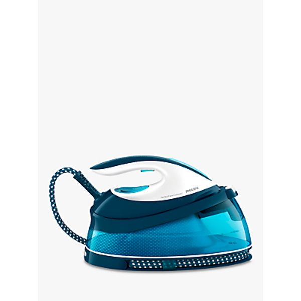 48. Philips GC7805/20 PerfectCare Compact Steam Generator Iron, Blue: £120, John Lewis