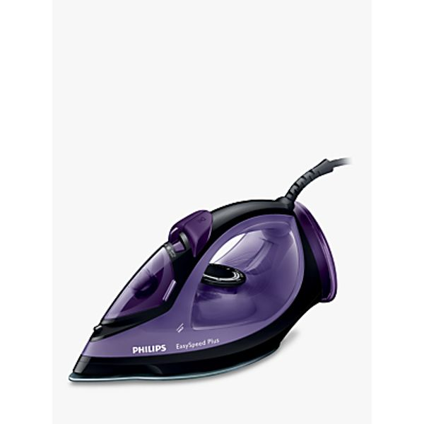 47. Philips GC2045/80 EasySpeed Steam Iron, Black/Purple: £40, John Lewis