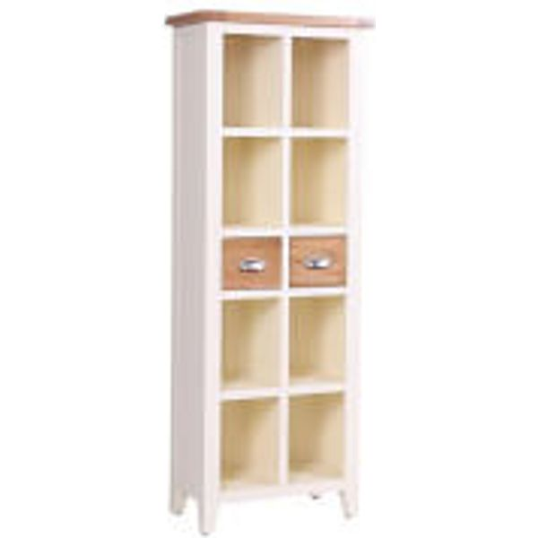 32. Vancouver Expressions Linen 2 Drawer Bookcase, White: £620, Iwantoneofthose.com