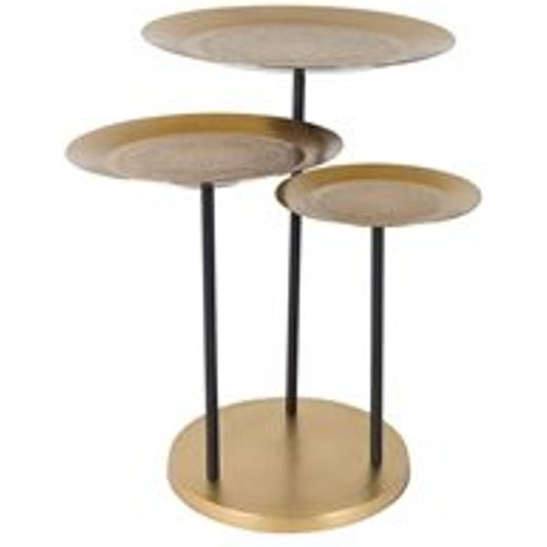 29. DUTCHBONE TRIO OF SIDE TABLES with Engraved Pattern: £160, Cuckoo Land