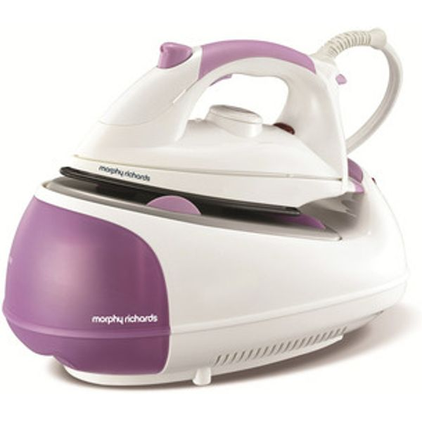 72. Morphy Richards 333019 Jet Steam Generator Steam Iron in Purple 2200W: £59.95, Sonic Direct