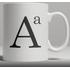 Alphabet Ceramic Mug - Letter A