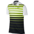 Nike Mens Mobility Fade Stripe Polo - Volt / White / Black