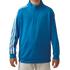 Adidas Boys 3 Stripe 1/2 zip Jacket - Blue