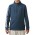 Adidas Boys 3 Stripe 1/2 zip Jacket - Mineral Blue