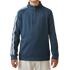Adidas Boys 3 Stripe 1/2 zip Jacket - Mineral Blue