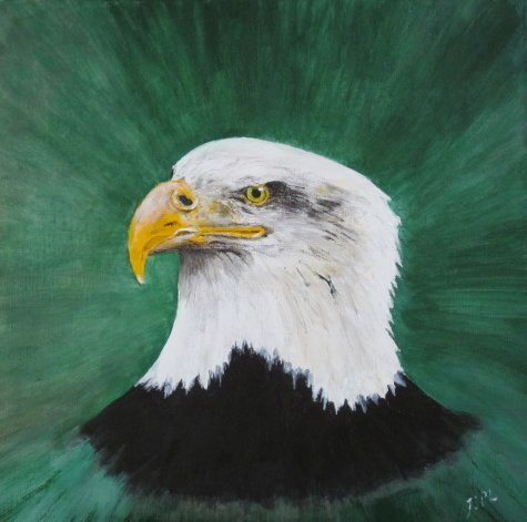 Bald Eagle - Painted by John Lumley by netkonnexion