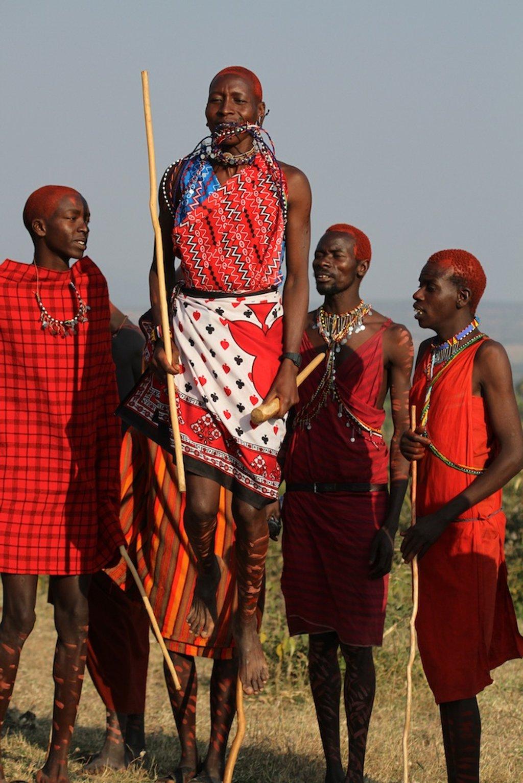 Maasai Warriors jumping by lwain