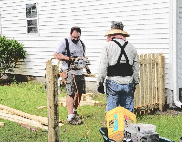 Fence Going In by stownsend