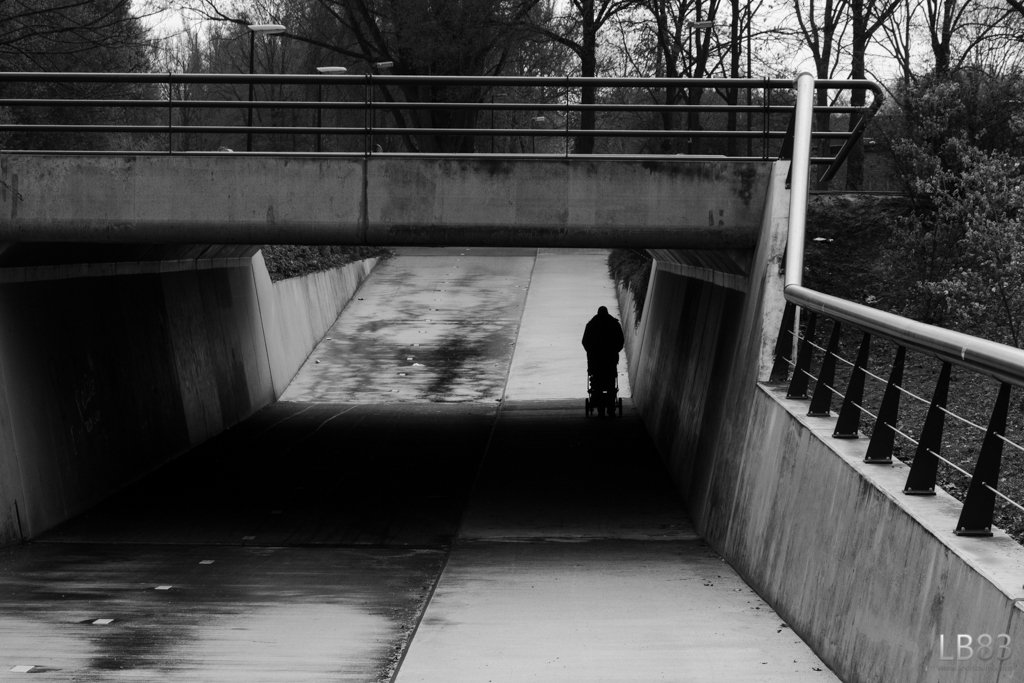 Stroller under the Bridge by leonbuys83