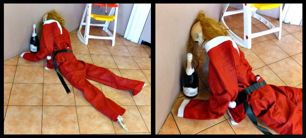 Santa Bones Very Drunk by snoopybooboo