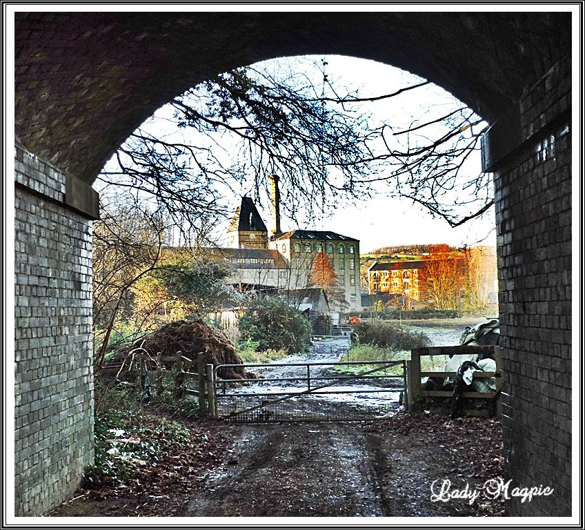 The Old Mill through the Arch. by ladymagpie