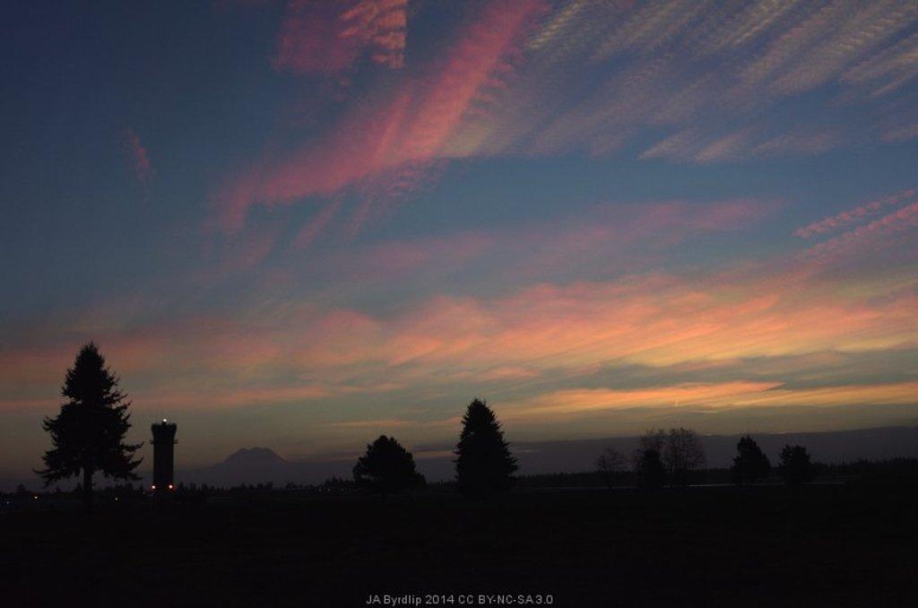 Mt Rainier, Airport and Sunrise by byrdlip