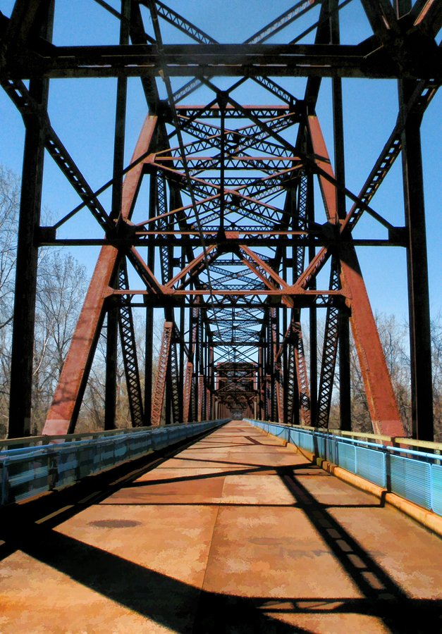 Old Chain Of Rocks Bridge by lsquared